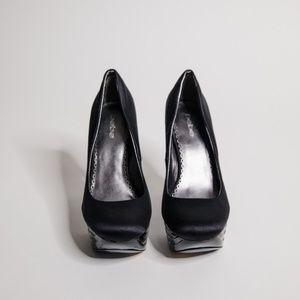 Bebe Black Pumps (Size 9)